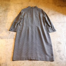 画像2: ALL OVER PATTERN SHIRT DESIGN SILK ONE-PIECE (2)