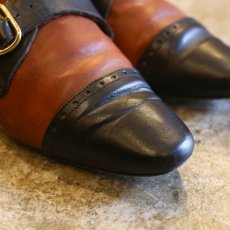 画像3: BICOLOR DSIGN LEATHER SHOES / 38 / MADE IN ITALY (3)