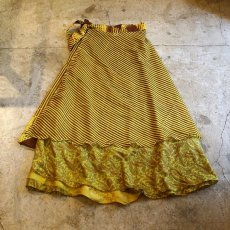 画像2: VINTAGE ALL OVER PTTERN  WRAP SKIRT / W25~ (2)