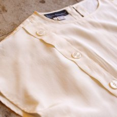 画像3: BUTTON DESIGN SILK TOPS / Ladies S (3)