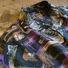 画像3: ARTISTIC PATTERN SILK SHIRT / Mens XL (3)
