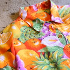 画像3: FRUIT PATTERN DESIGN S/S SHIRT / Mens L (3)