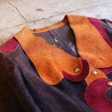 画像3: 1970's VINTAGE SUEDE DESIGN JACKET / Ladies S (3)