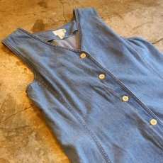 画像3: DESIGN DENIM N/S ONE-PIECE / Ladies M (3)