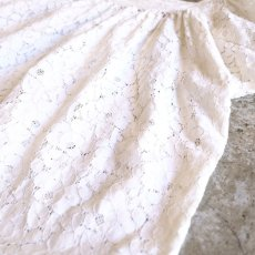 画像4: SQUARE NECK LACE BLOUSE / Ladies M (4)