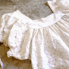 画像3: SQUARE NECK LACE BLOUSE / Ladies M (3)