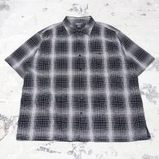 画像4: GRADATION CHECK S/S OVER SHIRT / Mens 4XL (4)