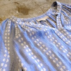 画像3: STRIPE PATTERN EMBROIDERY BLOUSE / LadiesXS(M) (3)