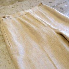 画像3: 【DKNY】CENTER PRESS LINEN PANTS / W28 / MADE IN ITALY (3)