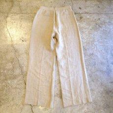 画像2: 【DKNY】CENTER PRESS LINEN PANTS / W28 / MADE IN ITALY (2)
