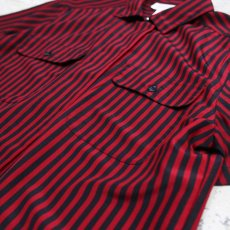 画像4: STRIPE PATTERN S/S SHIRT / Mens M (4)