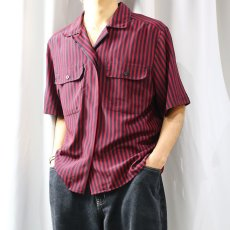 画像9: STRIPE PATTERN S/S SHIRT / Mens M (9)