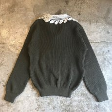 "画像2: 【Wiz&Witch】""DECO"" VINTAGE LACE MILITARY SWEATER / OS (2)"