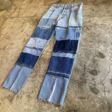 "画像3: 【Wiz&Witch】""DIRTY BEAUTIFUL"" DENIM PATCHWORK PANTS / W29 (3)"