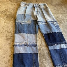 "画像4: 【Wiz&Witch】""DIRTY BEAUTIFUL"" DENIM PATCHWORK PANTS / W29 (4)"