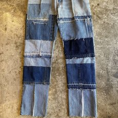 "画像5: 【Wiz&Witch】""DIRTY BEAUTIFUL"" DENIM PATCHWORK PANTS / W29 (5)"