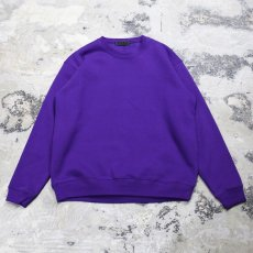 "画像2: 【DISRAW】""diffusion"" SWEAT SHIRT / PURPLE (2)"