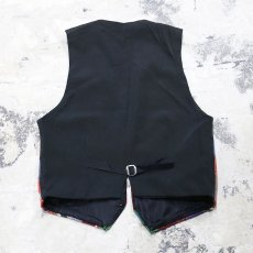画像2: NATIVE PATTERN GOBELIN VEST / Mens S(M) / MADE IN USA (2)