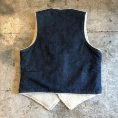 画像2: 【Levis】DENIM COLOR DESIGN BOA VEST / Ladies L (2)