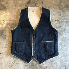 画像1: 【Levis】DENIM COLOR DESIGN BOA VEST / Ladies L (1)