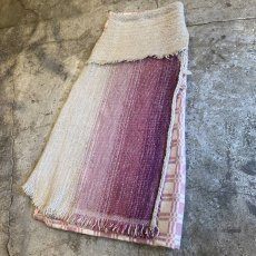 "画像3: 【Wiz&Witch】""UNITED"" VINTAGE FABRIC MIX WRAP SKIRT / FREE (3)"