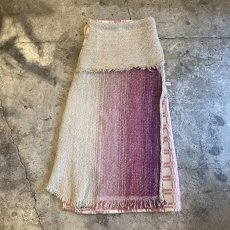 "画像1: 【Wiz&Witch】""UNITED"" VINTAGE FABRIC MIX WRAP SKIRT / FREE (1)"