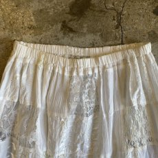 画像7: OLD PATCHWORK LACE TIERED SKIRT / W26~ (7)