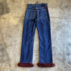 "画像2: 【Wiz&Witch】""DIRTY BEAUTIFUL""  VINTAGE LINE FRINGE JEANS / W28 (2)"