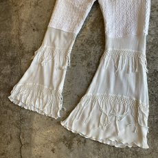 "画像4: 【Wiz&Witch】""UNITED"" VINTAGE LACE FLARE PANTS / W28 (4)"