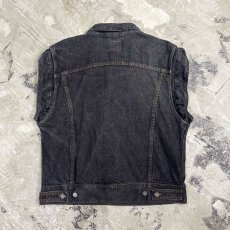 画像2: 90's【CALVIN KLEIN】BLACK DENIM VEST / Mens XL / MADE IN USA (2)