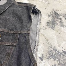 画像4: 90's【CALVIN KLEIN】BLACK DENIM VEST / Mens XL / MADE IN USA (4)