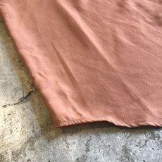 画像3: BROWN COLOR OVER S/S OPEN COLLAR SHIRT / Ladies L (3)
