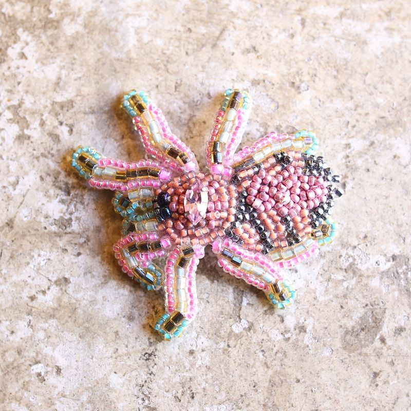 画像1: 【LILYTAM】BEADS ART BROOCH / SPIDER (1)