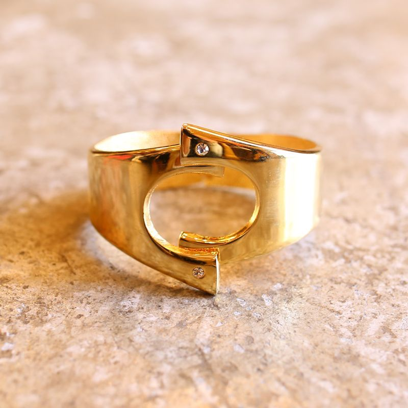 画像1: JEWELRY DESIGN GOLD BANGLE (1)