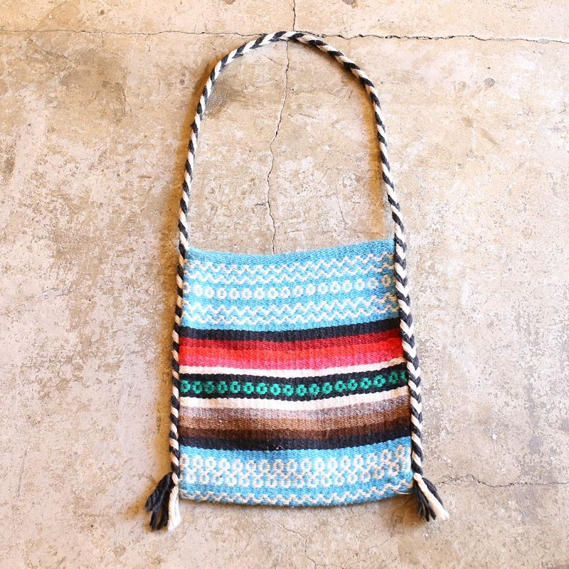画像1: VINTAGE NATIVE RUG DESIGN SHOULDER BAG (1)