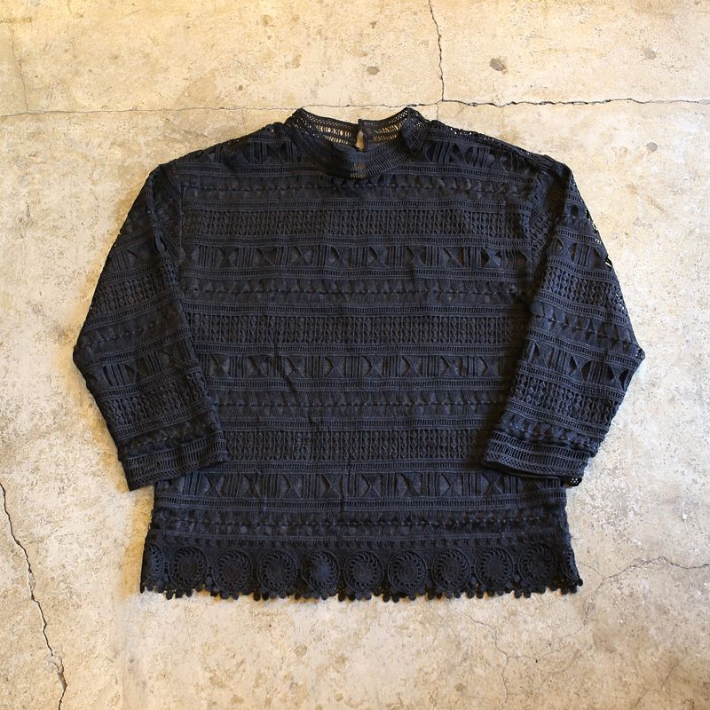 画像1: LACE DESIGN L/S TOPS (1)