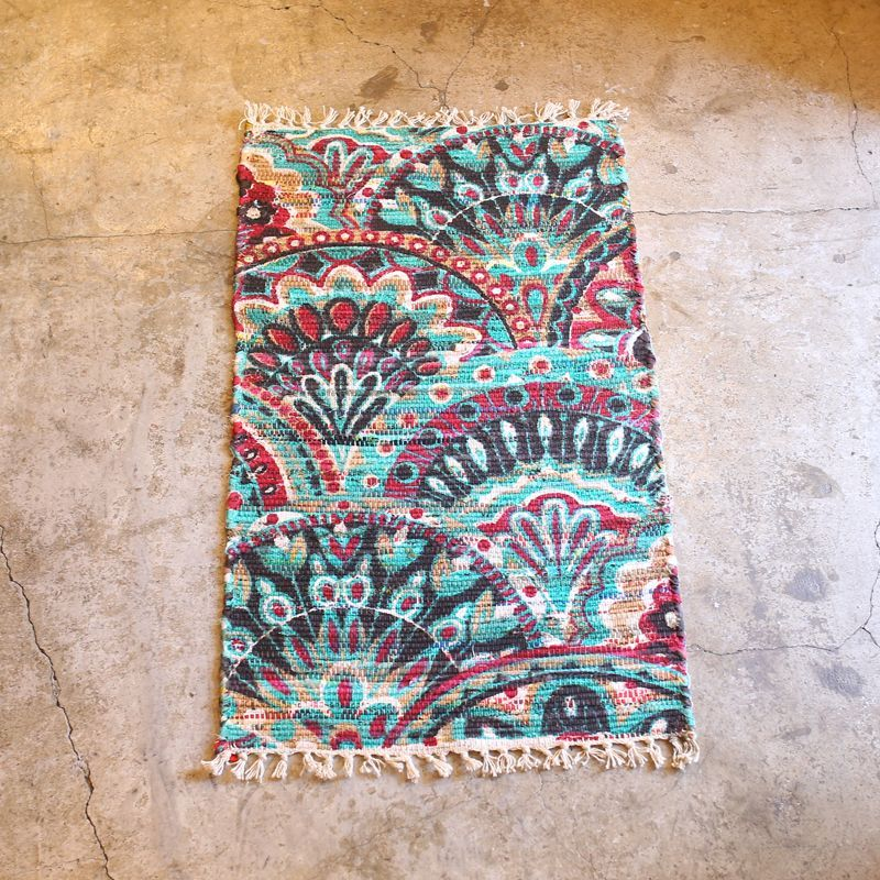 画像1: ARTISTIC DESIGN RECYCLE RUG (1)