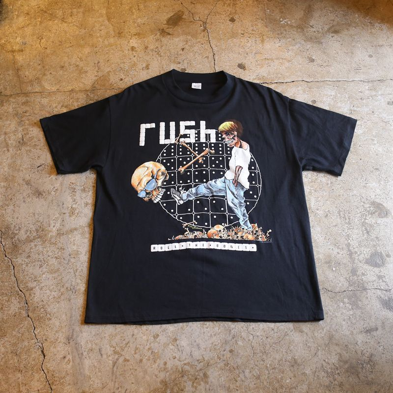 "画像1: 1991's VINTAGE RUSH ""ROLL THE BONES"" TEE (1)"