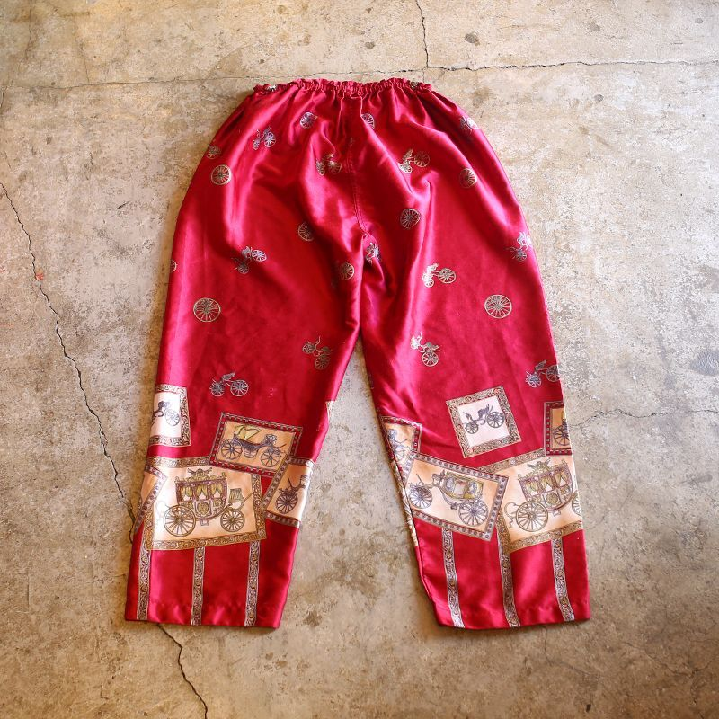 画像1: CARRIAGE PATTERN SATIN PANTS (1)
