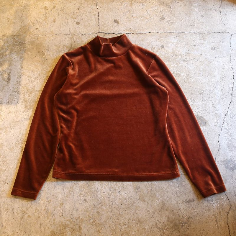 画像1: VELOR HI NECK DESIGN L/S TOPS (1)