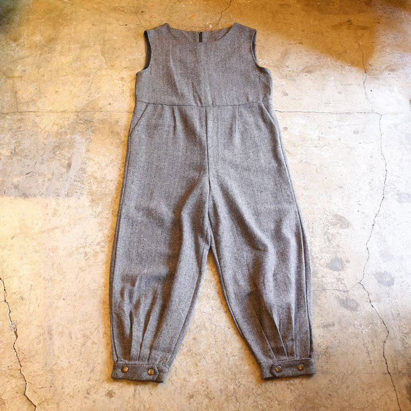 画像1: TWEED DESIGN N/S JUMPSUIT (1)