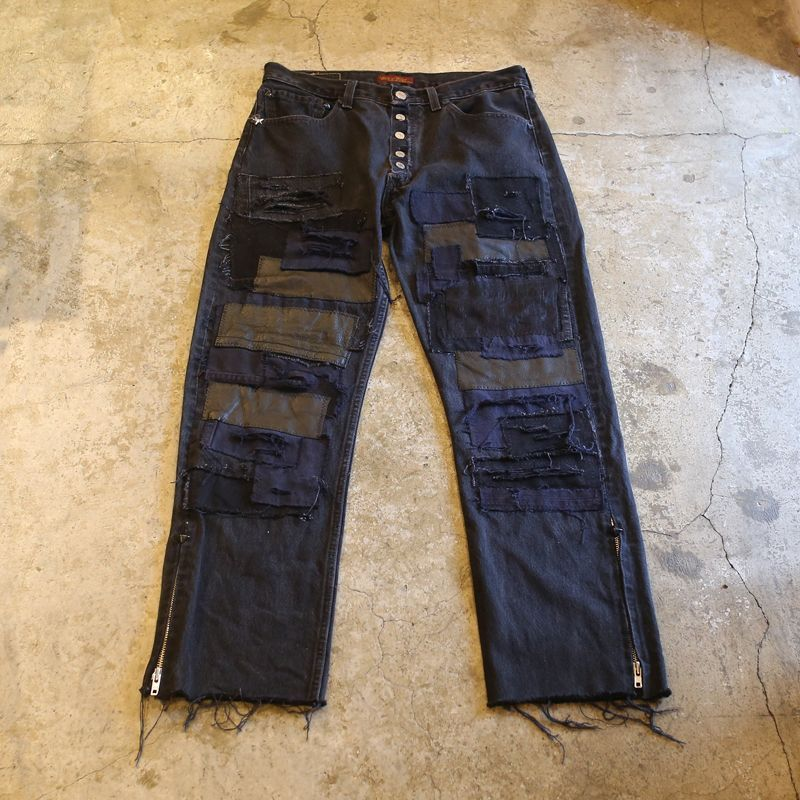 "画像1: 【Wiz&Witch】""DIRTY BEAUTIFUL"" CRUST ART JEANS / 019 (1)"