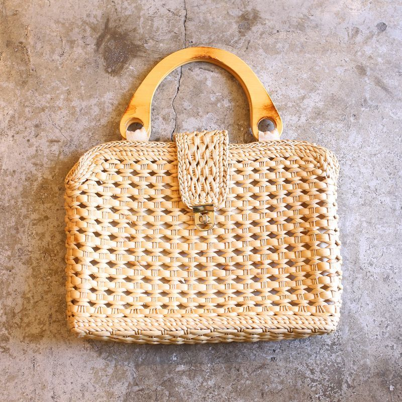 画像1: NATURAL DESIGN HAND BAG (1)
