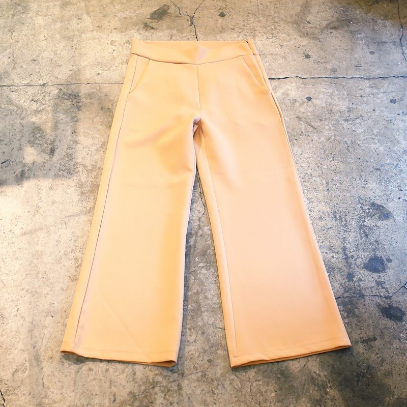 画像1: BEIGE COLOR DESIGN SLACKS (1)