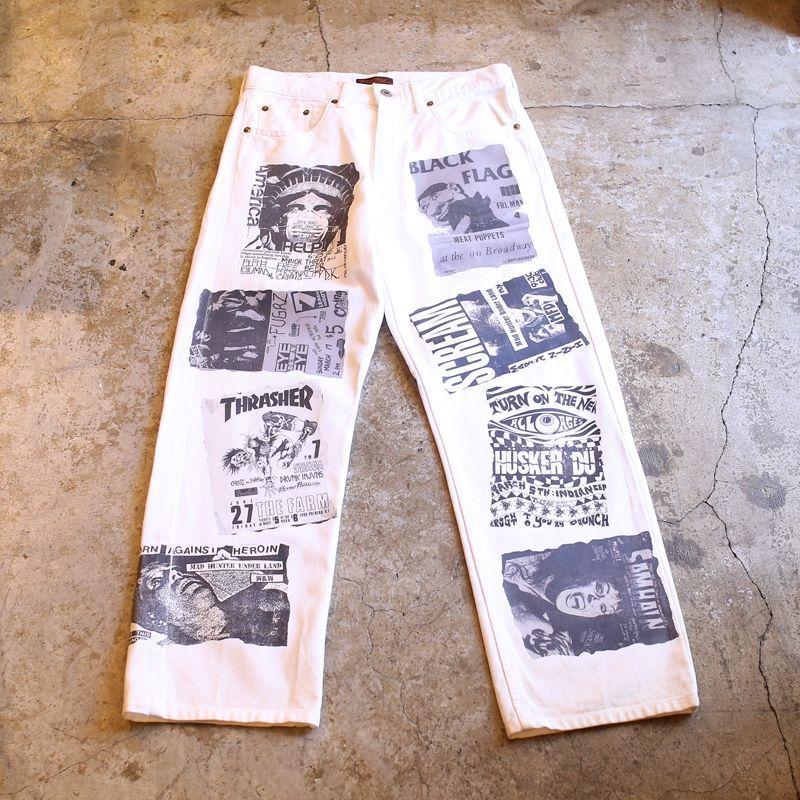画像1: 【Wiz&Witch】DIRTY BEAUTIFUL WHITE DENIM PANTS (1)