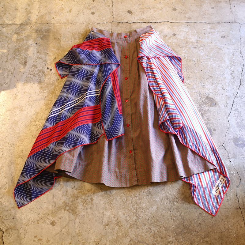 "画像1: 【Wiz&Witch】""UNITED"" ~GIVENCHY~ VINTAGE SCARF SKIRT (1)"