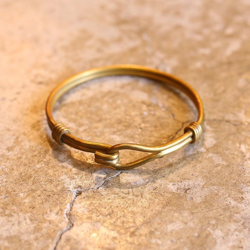 画像1: DESIGN BRASS BRACELET (1)