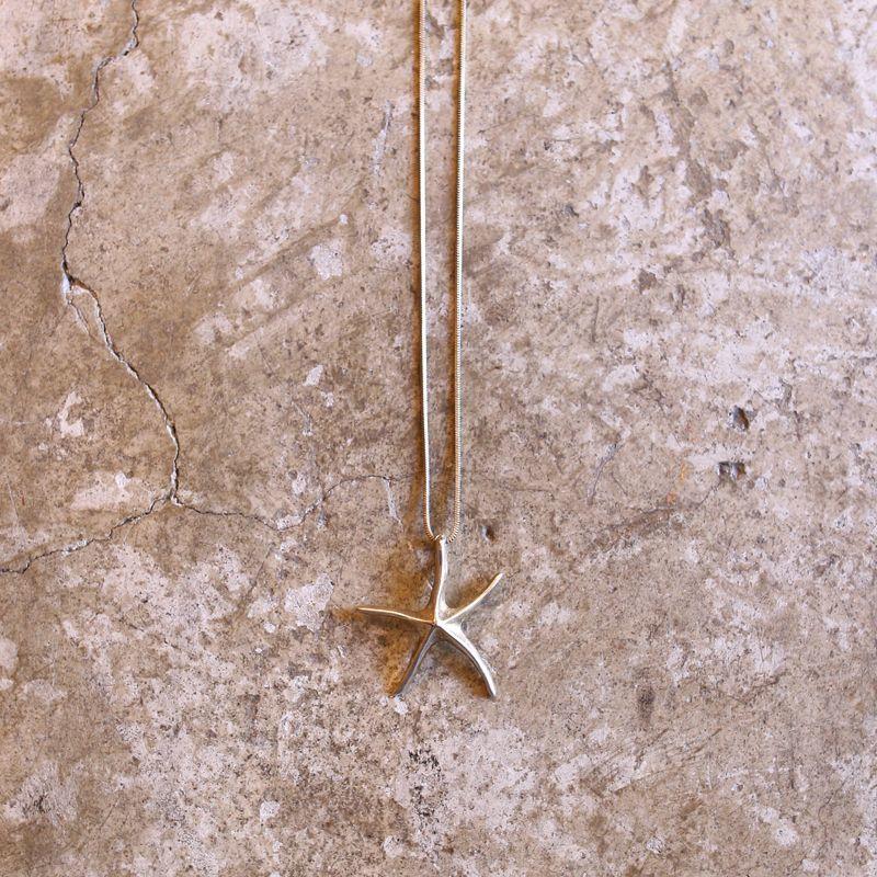 画像1: STARFISH DESIGN SILVER NECKLACE (1)