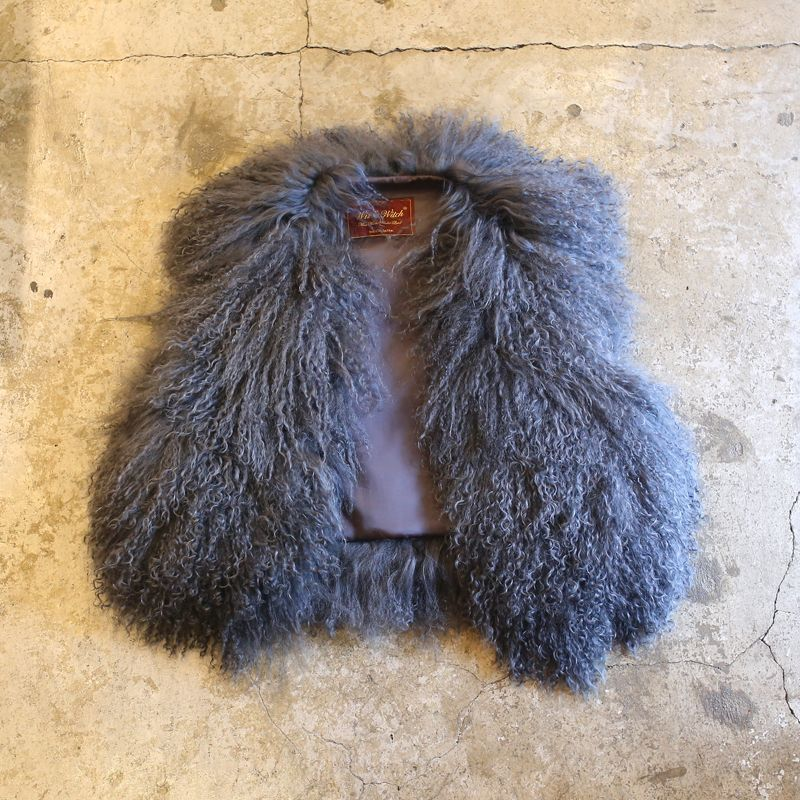 画像1: 【Wiz&Witch】- REAL FUR VEST / GRAY (1)