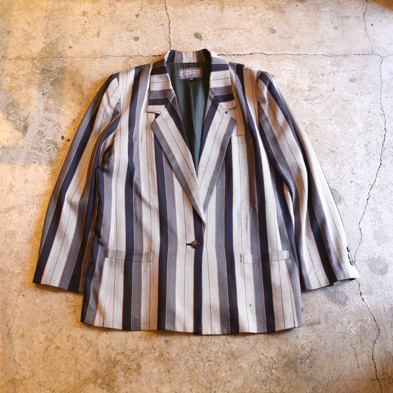 画像1: STRIPE PATTERN RAYON JACKET (1)